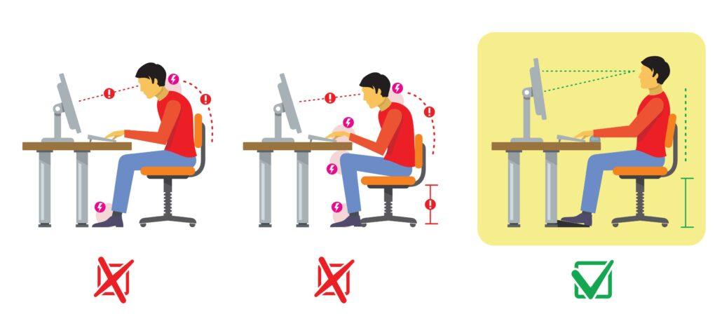Teletrabajo contribuye a las posturas incorrectas