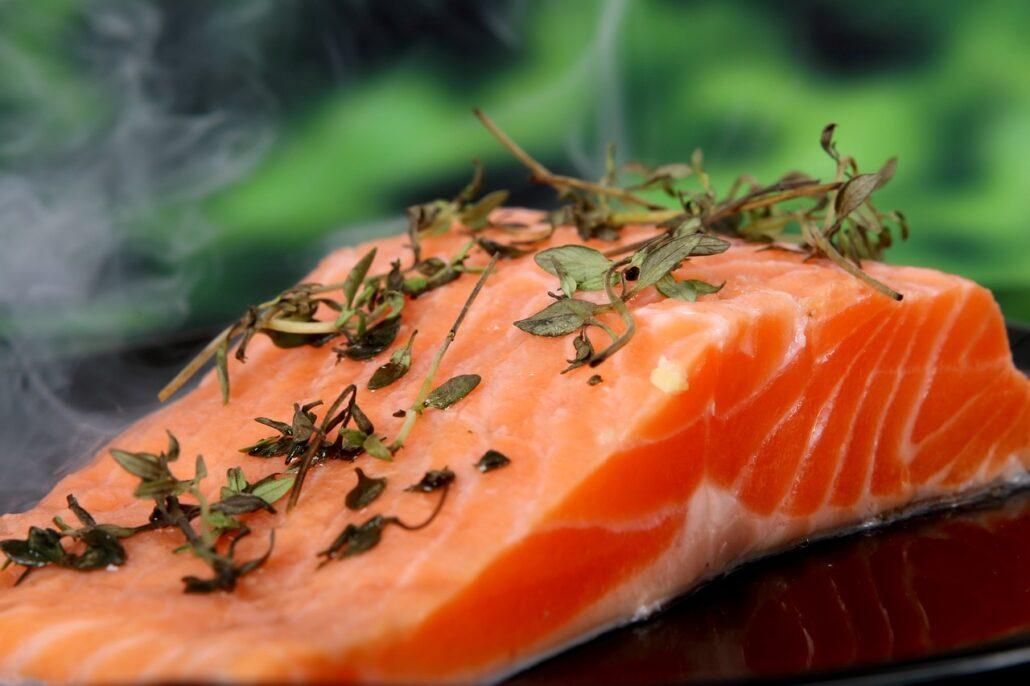 salmón dieta